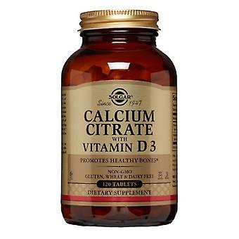 سولغار الكالسيوم سيترات مع أقراص فيتامين D3، 120 علامات التبويب