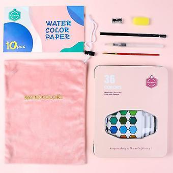 איכות גבוהה צבעי מים אחידים עם סט עט מברשת עץ, גואש