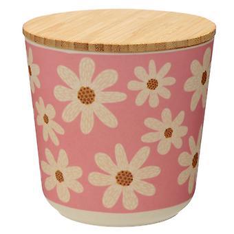 Puckator Daisy Bamboo Storage Jar, Small