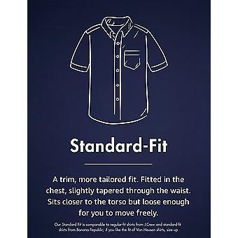 Goodthreads Men's Standard-Fit Short-Sleeve Solid Oxford Shirt w/Pocket, blau...