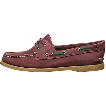 SPERRY Women's A/O 2-Eye Prep Tie Lace Boat Shoe