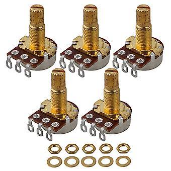 5PCS A500k Ohm Audio Mini Pots Guitar Potentiometer voor elektrische gitaar