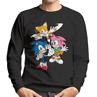 Sonic The Hedgehog Amy Rose And Tails Men's Sweatshirt