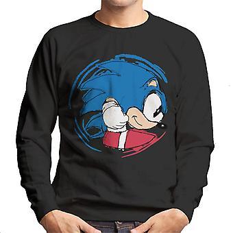 Sonic Siili liikkuva hyökkäys men's collegepaita