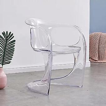 Nordic, Creative, Acrylic Plastic Dining Chair, Ghost Chair Tabouret en cristal