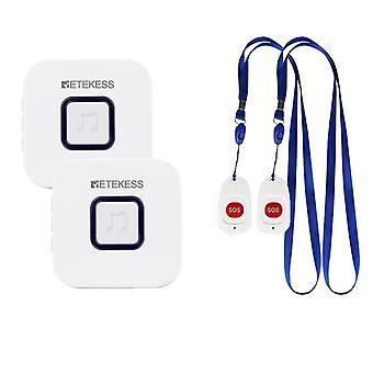 Retekess مقدم الرعاية البيجر اللاسلكية Sos دعوة زر ممرضة / استدعاء تنبيه مساعدة المريض