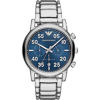 Armani AR11132 Blue Sunray Dial & Silver Stainless Steel Chronograph Men's Ceas