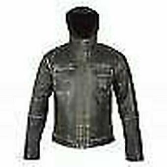 Spada Peacedog Men's Leather Motorcycle Jacket Black Waterproof CE Armour