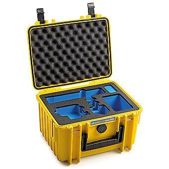 B&W GoPro Case Type 2000 para GoPro Hero 9 con inserto de espuma, amarillo