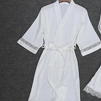 Sexy Women Rayon Kimono Bathrobe Bridesmaid Wedding Robe Sleepwear Clothes