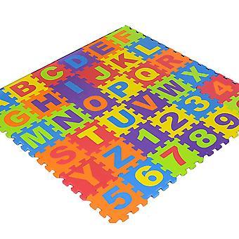 36pcs Per Set Puzzle Foam Number Alphabet Puzzle Mat Education Learning Toy