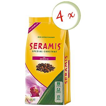 Sparset: 4 x SERAMIS® special substrate for orchids, 7 litres