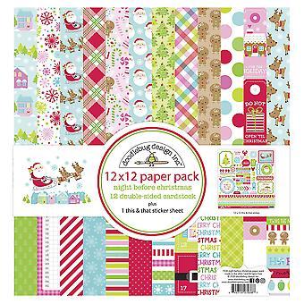 Doodlebug Design Nacht vor Weihnachten 12 x 12 Zoll Papier Pack