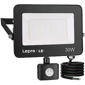 LE Security Lights Outdoor Motion Sensor, 30W PIR Sensor Security Light, 2800Lm