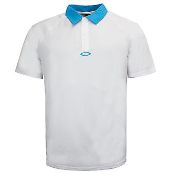 Camisa polo oakley raglan mens casual branco top 433908OVT 100