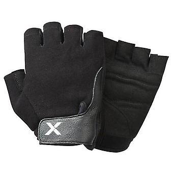 XINX Fingerless Lifting Training Gloves Hook Loop Gym Workout Black XGLO1 A25D