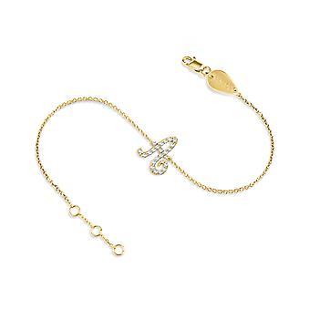 Baby Bracelet Alphabet Letter 18K Gold and Diamonds
