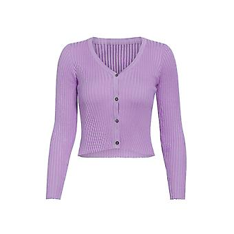 Buttons Knitted Sweater, Cardigan Women Slim Ribbed Sweaters