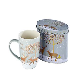 Arthur Price Reindeer Collection Mug and Tin, Prancer