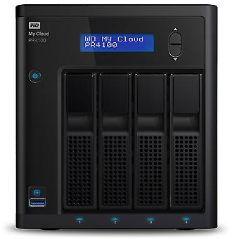 Wd 24 tb my cloud pro pr4100 professional series 4-bay network attached storage - nas - wdbnfa0240kb