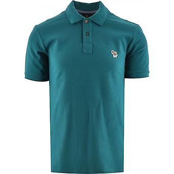Paul Smith Verde Regular Fit Manga Curta Camisa polo