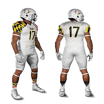 American Rugby Football Uniform, Set Mesh, American Jersey Sublimation Sets