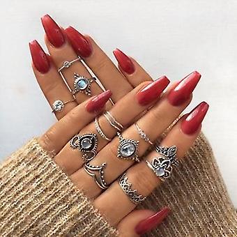 الاصبع مجوهرات التاج، حجر الراين هندسية، ورقة المرأة خاتم مجموعات، هوجو
