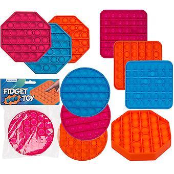 Fidget leketøy pop det leketøy stress slappe av forskjellige farger og former første