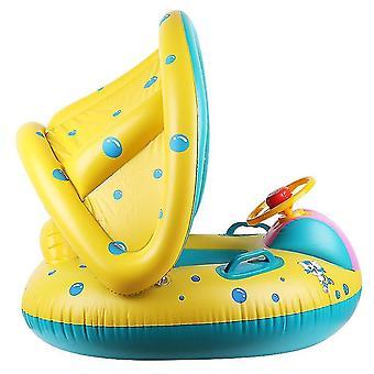 Baby Float Zwembad Peuter Floaties Met opblaasbare luifel Shark Infant Pool Float For Kids