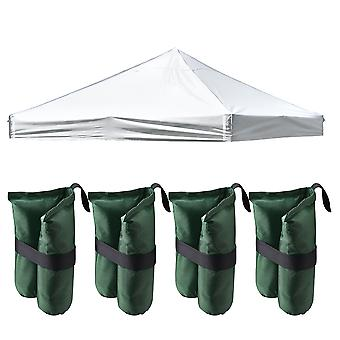 InstaHibit 9.6x9.6 Ft Pop up Canopy Top with 4 Sand Bags Outdoor Yard Beach