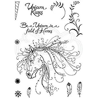 Pink Ink Designs Clear Stamp Unicorn A5