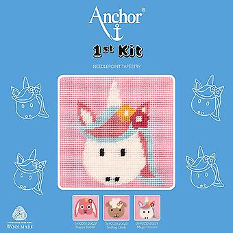 Anchor Cross Stitch Kit: 1st Kit: Best Friends: Magic Unicorn