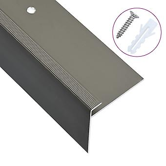 vidaXL Porrasreunat F-muodossa 15 kpl. alumiini 134 cm ruskea