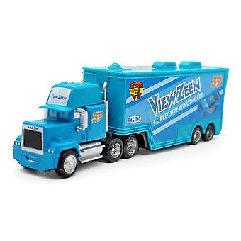 Auta Viewzeen Racing Car Blue Trailer Truck No. 39 Slitina Toy Car Model