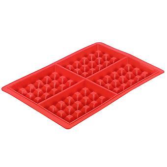 Molde de bolo de waffle em forma de coração quadrado de silicone