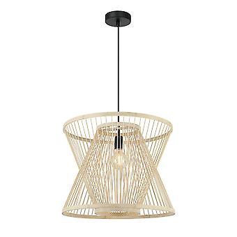 Forlight Meg - Hængende Cage Wire Vedhæng E27 40W Imitation Wood