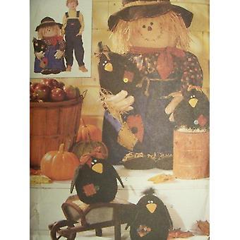 Butterick ompelu kuvio 6298 Kuistin variksenpelätin ja varikset craft