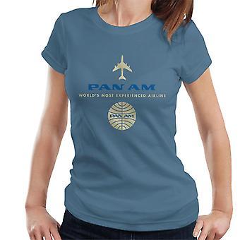 Pan Am Worlds Camiseta de mujer más experimentada de la aerolínea