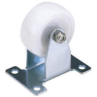 Draper 65502 75mm Diameter Fixed Plate Fixing Nylon Wheel - S.W.L. 100Kg