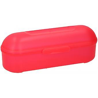 lunchbox-Baguette 24 x 7 x 8 cm Polypropylen rot