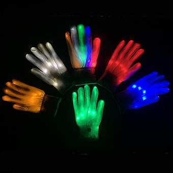 Luminous Colorful Gloves Glow In The Dark Led Performance Gloves
