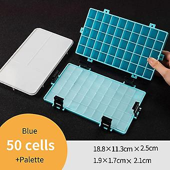Thick Silicone Leak Proof Square Plastic Storage Box For Art Supplies