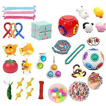 30pcs Pack Fidget Toys Sensory Toy Set Antistress Relief Fidget Toys