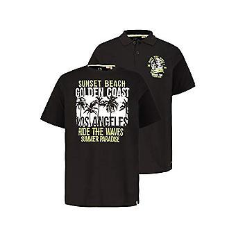 JP 1880 Doppelpack T-Shirt/Poloshirt, Gro and Gro en, Black (Schwarz 10), Large Man