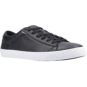 TOMS Carlson Mens Leather Casual Trainers Black