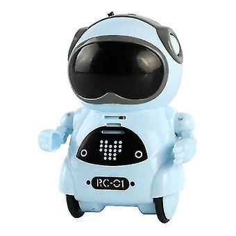 Blue children's mini smart voice dialogue dance pocket robot az8020