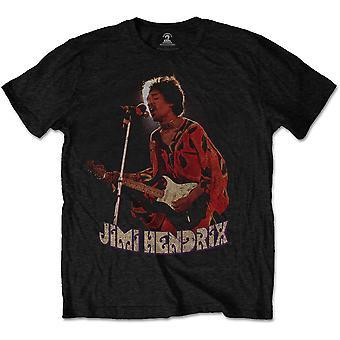 Jimi Hendrix - Orange Kaftan Men's Medium T-Shirt - Black