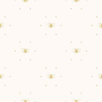 Sophie Allport Abeilles Silhouette Papier peint Crème / Ocre 181502