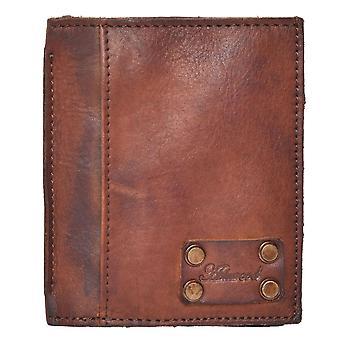 Men's Crinkle Leather Slim Credit Card Wallet