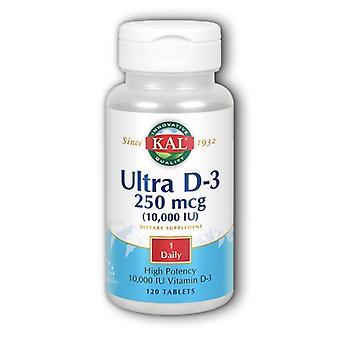Kal Ultra D-3, 10 000 UI, 120 onglets